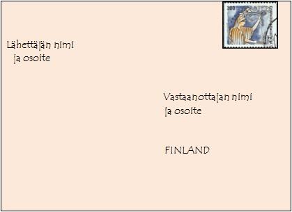 Postimaksut kirje