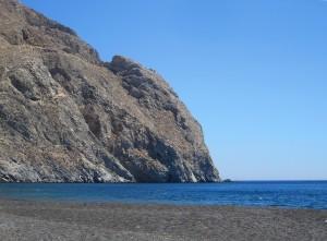 Santorini: ranta, kallio
