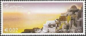 santorini-tulivuori-postimerkki